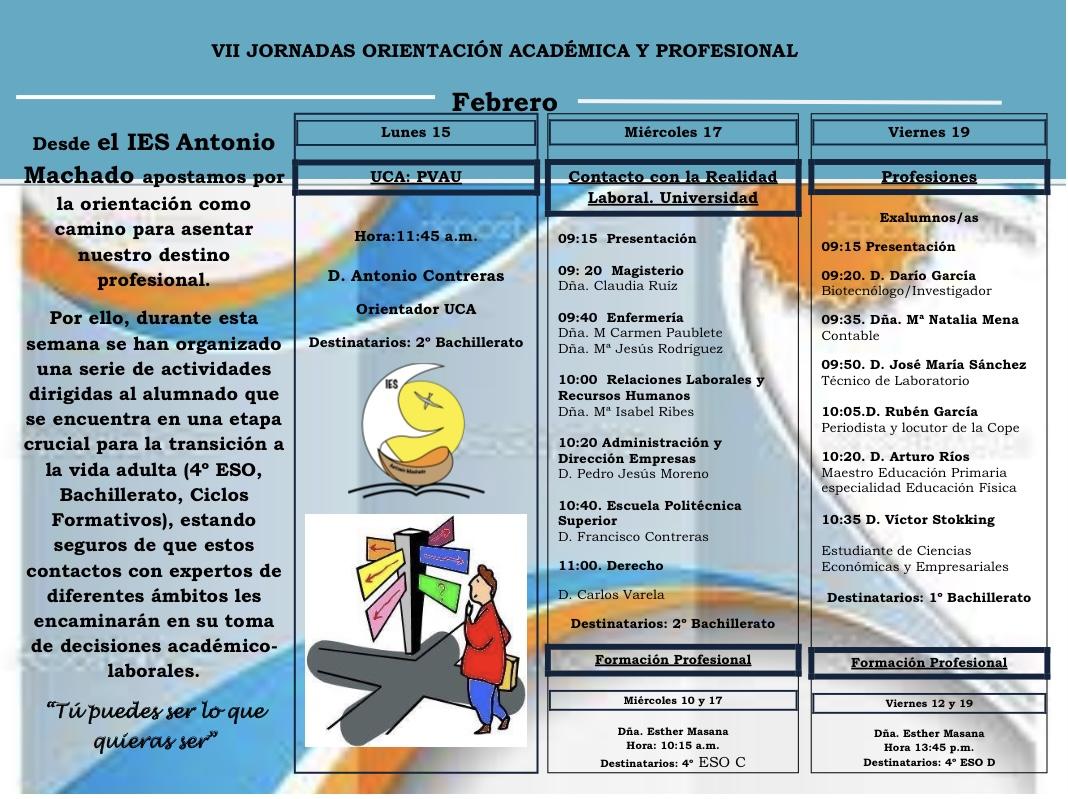 Imagen de la noticia: VII Jornadas de Orientación Académica y Profesional
